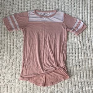 POOF! GIRLS Pink Tied T-Shirt